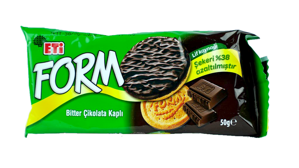 Eti Form Bisküvi Çikolatalı Kaplı 50 Gr.