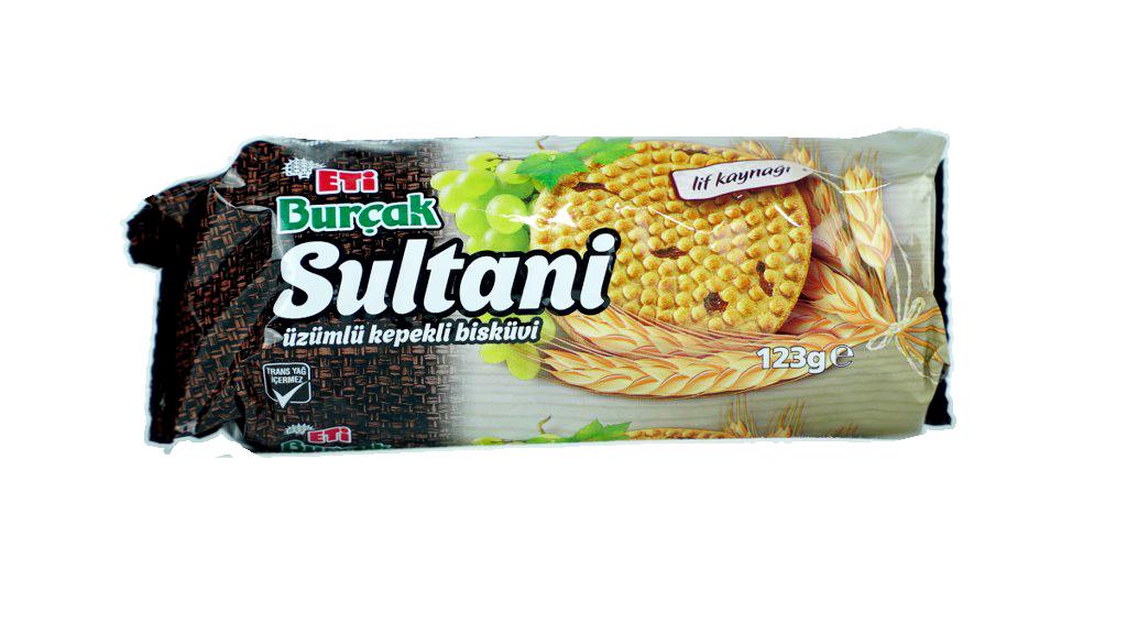 Eti Sultani Üzümlü Kepekli Bisk. 123 Gr.