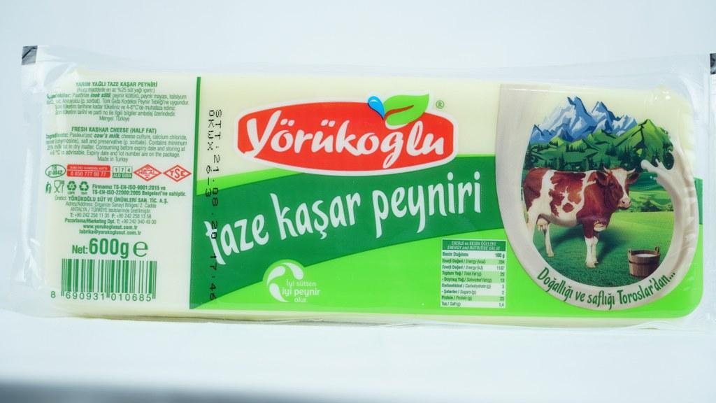 Yörükoğlu Taze Kaşar Peynir 600 Gr.