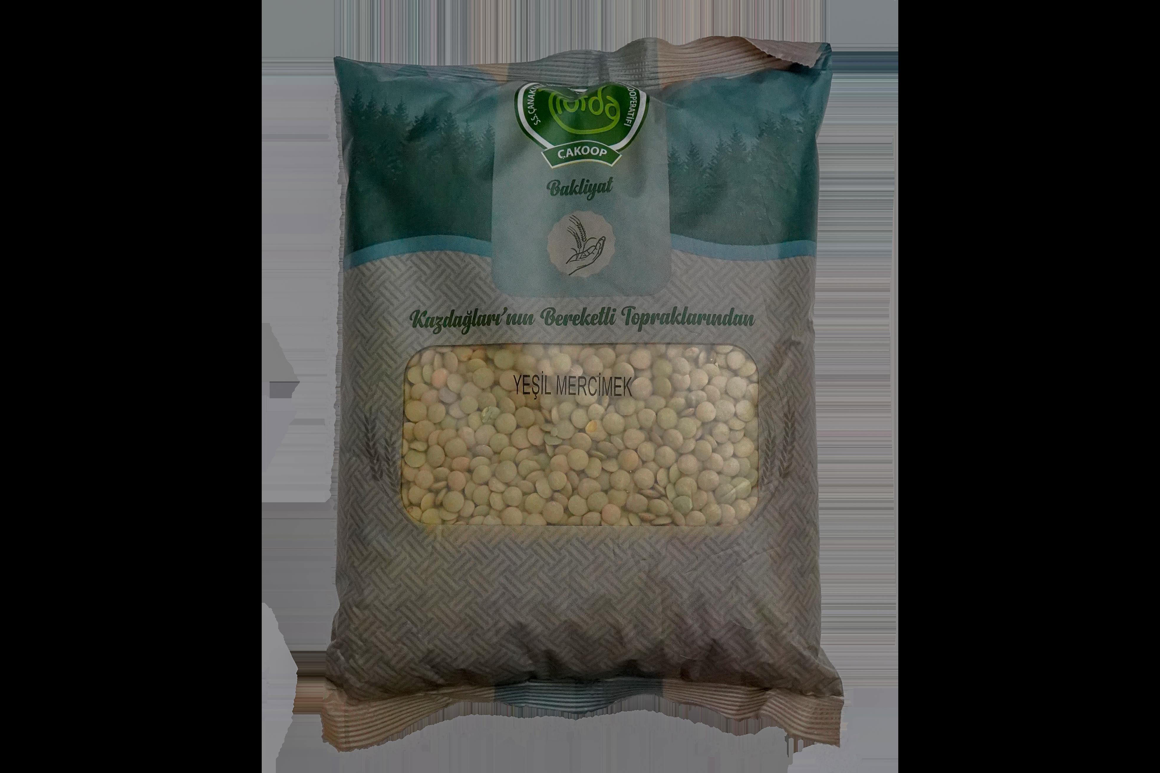 Çanakkale Cakkop Yeşil Mercimek 1 kg